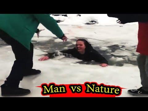 जब प्रकृति ने दिया करारा जवाब  | Man Vs. Nature Fails Caught On Video