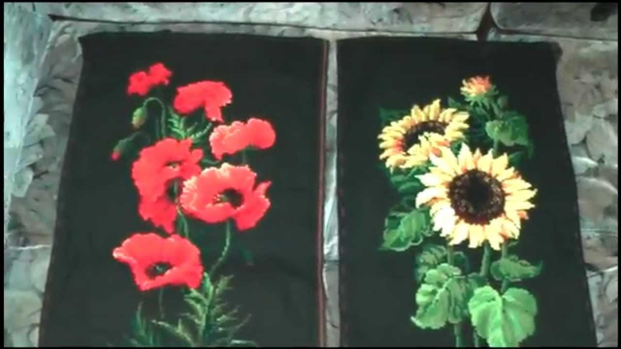 Вышивка крестом риолис черная