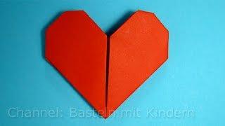 Herz falten ❤ Einfaches DIY Geschenk basteln - Origami Herz - Basteln Ideen - Mama