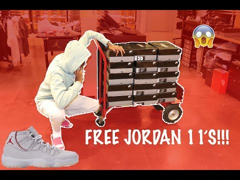I GOT A FREE PAIR OF PLATINUM TINT 11's!!!!!* MUST WATCH*