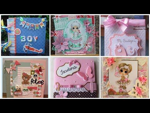Beautiful handmade baby scrape book design ideas/Mini album design