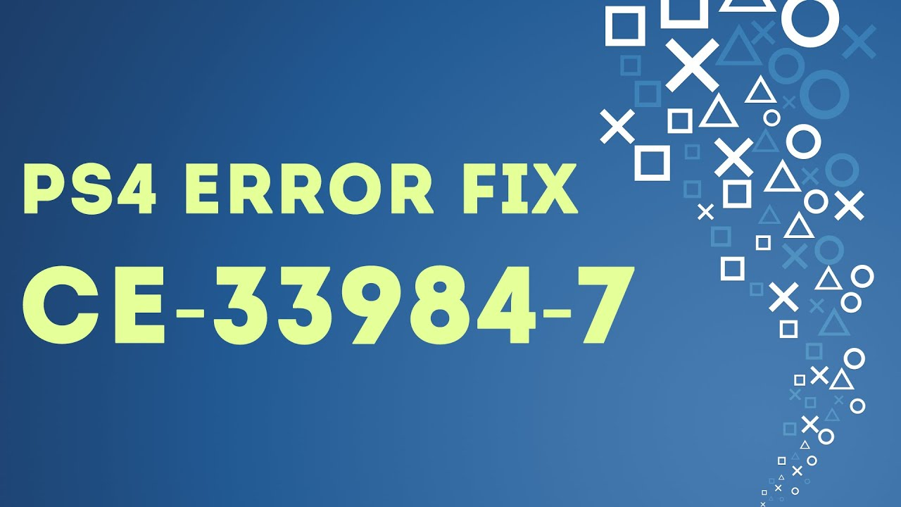 PS4 EASY FIX Error CE-33991-5 Cannot connect to the Internet