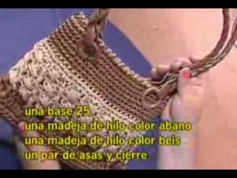 Tejidos a crochet parte 8 youtube - Bolsos tejidos a crochet ...