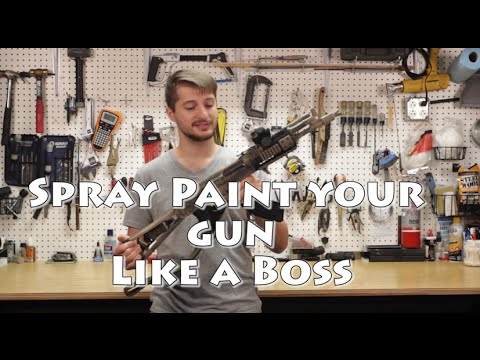 How to Spray-paint your Gun like a Boss.