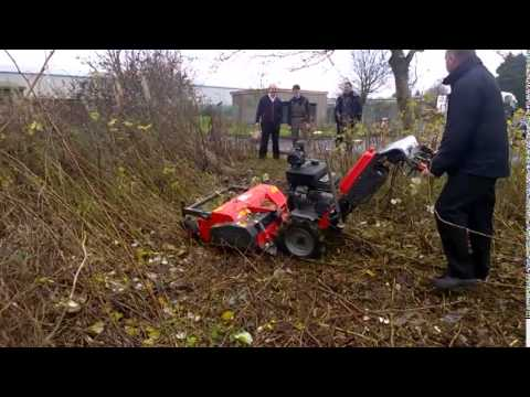 Kersten UBS with flail mower head demonstration