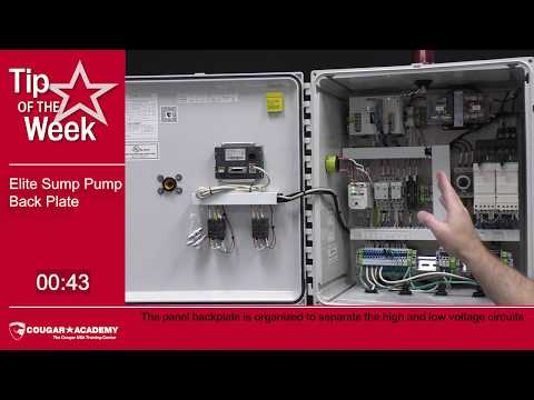 Elite Sump Pump Control Panel Back Plate - Cougar Academy Tip of the Week
