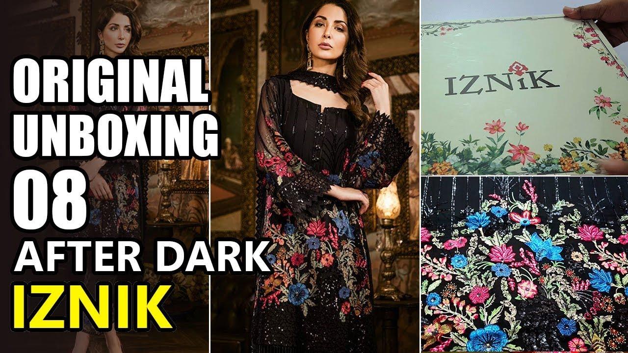 21907feed2 Iznik Chiffon Collection 2018 - Unbox After Dark IZK 08 Festive - Sara  Clothes Maria B