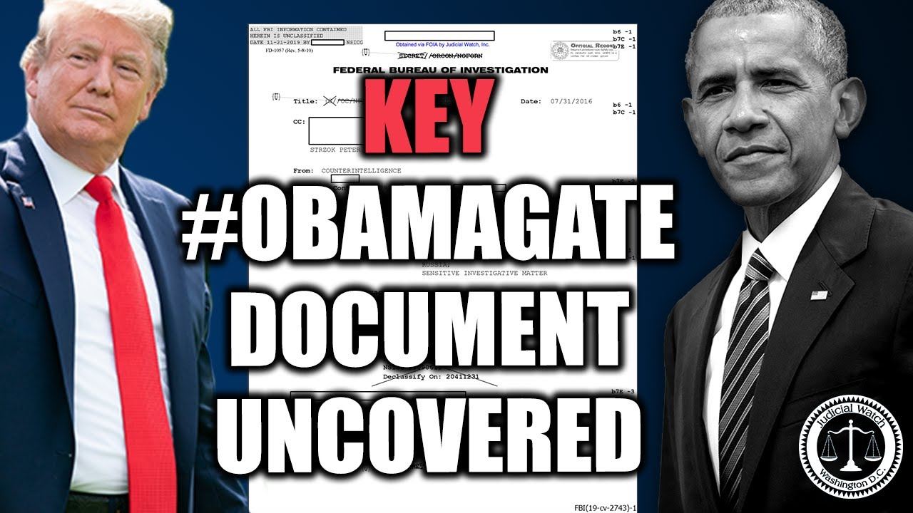 NEW: Key #Obamagate Document UNCOVERED--Here's How Crossfire Hurricane Began...