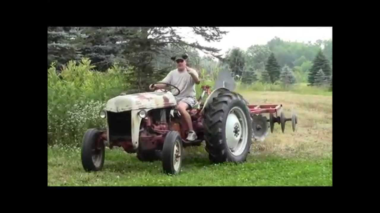 1948 Ford 8n Disking Food Plot Youtube Tractor Distributor Diagram