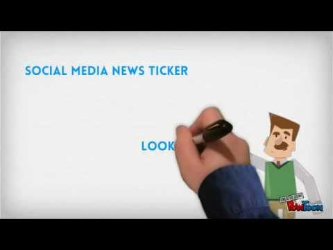 Social Media News Ticker