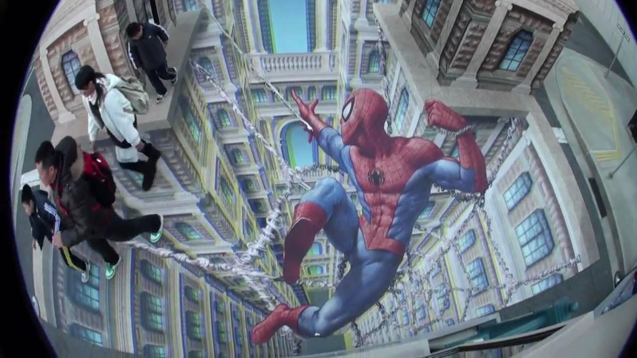 trick art 3d by kurt wenner at universal studios japan