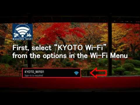 Japan Trip: Free 24 Hours Wi-Fi courtesy of Kyoto City!  Kyoto, Japan