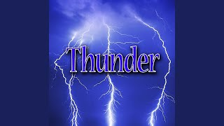 Calm Thoughts Cracks of Thunder with Steady Rain The