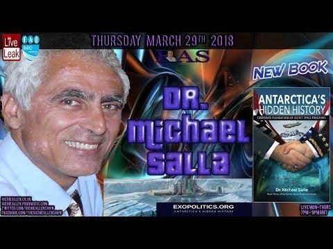 Michael Salla:Antarctica Secret Bases, MarsMoon Space FlightsInterDimensional travelTime Portals