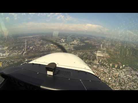 Swiss VFR Langenthal Basel Cessna 172 with ATC