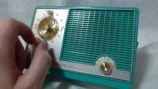 Roland TC10 transistor clock radio (made in USA circa late 1950