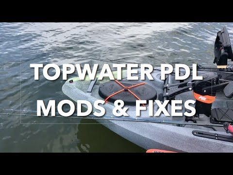 Topwater PDL MODS, FIXES, Quieting Rudder and Seat Noise