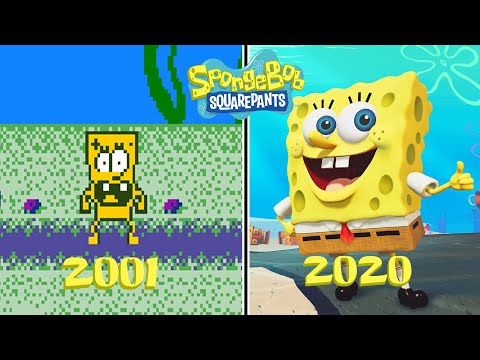 SpongeBob Squarepants Games Evolution (2001 - 2020)