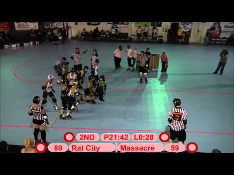 Seattle's Rat City Rollergirls vs. Boston's Derby Dames