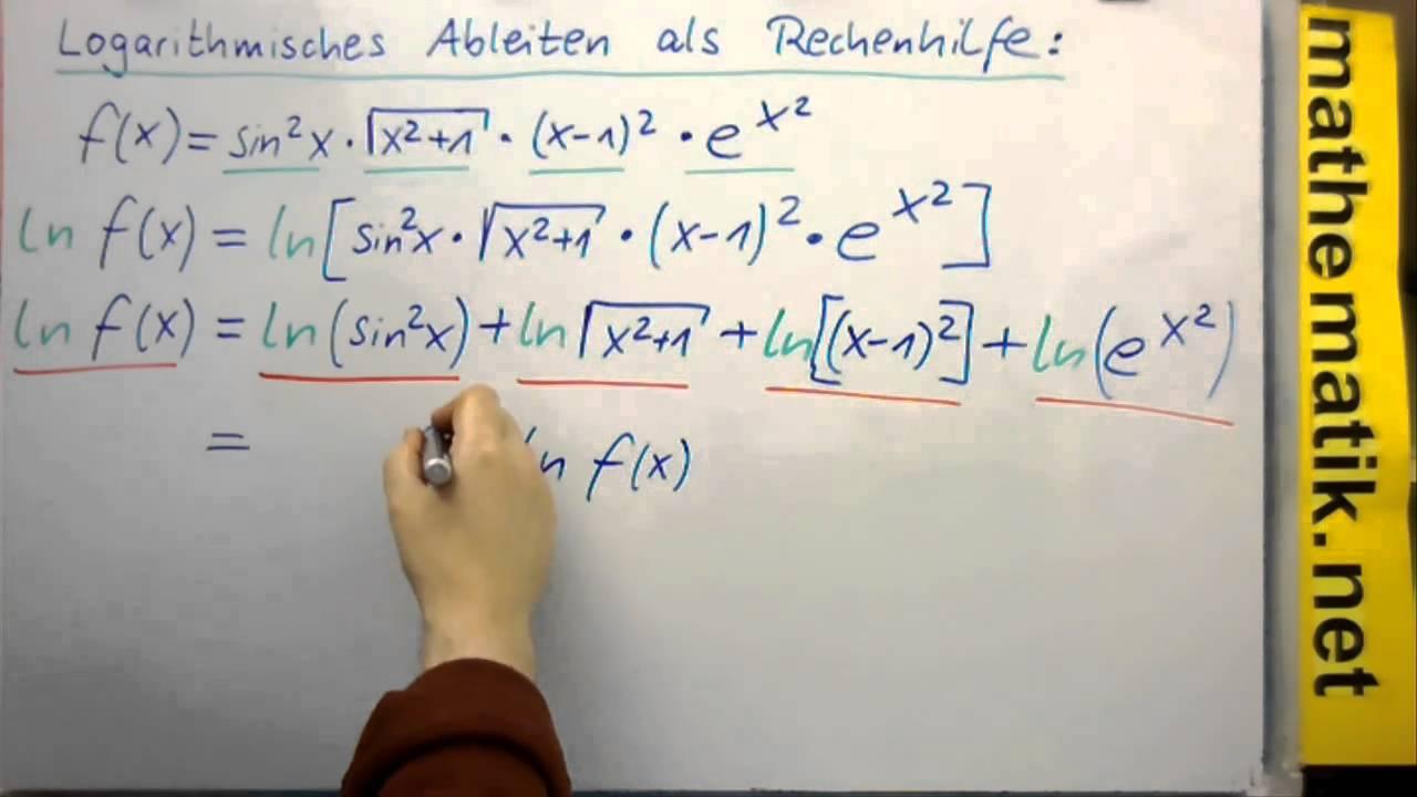 Logarithmisches Differenzieren als Mittel um Produkte leichter ...