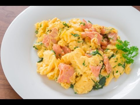 Salmon Herb Scrambled Eggs