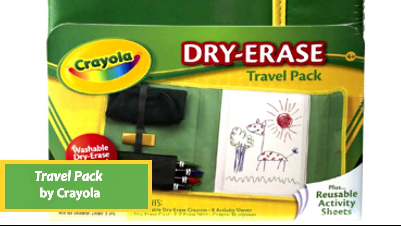dry erase travel pack by crayola 98 8634 youtube