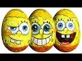 Spongebob Squarepants Surprise Eggs: Squidward Patrick Gary Mr Krabs Plankton Sandy Toys video