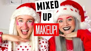 THE MIXED UP MAKEUP CHALLENGE WITH SOPHIE LOUISE!! | sophdoesnails