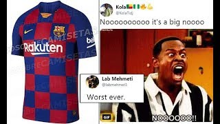 f6360fdedcd Barca fans furious after home kit for next season is  leaked  online