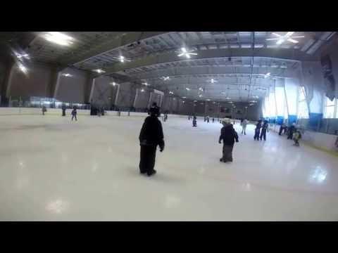 Kaleb 2nd grade ice skating field trip. Tahoe valley elementary school. 3/2014. #gopro