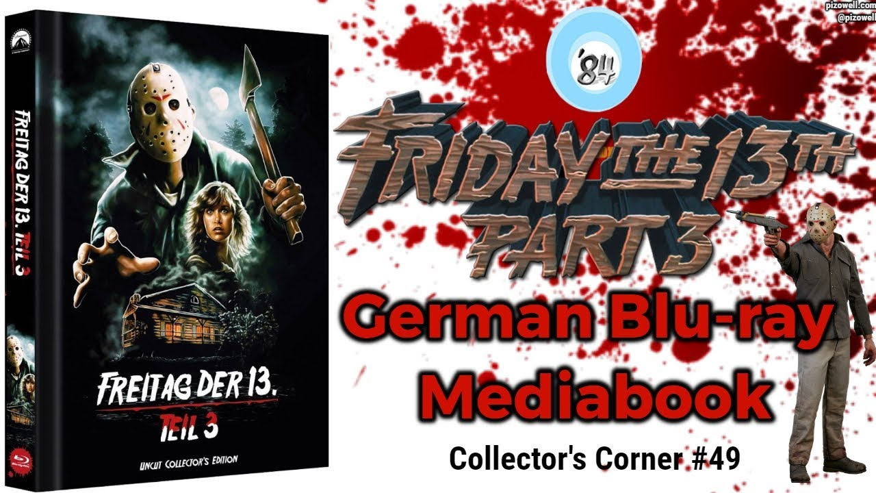 Friday the 13th Part 3 German Mediabook Blu-ray - Collector's Corner