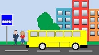 Развивающий мультик. Мультик про машинки. Раскраска автобус. Учим цвета