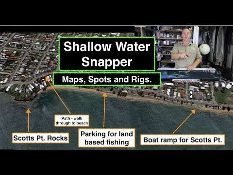 MAPS AND SPOTS, Snapper Fishing, Shallow Reef, And Rigs.
