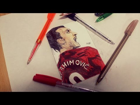 Zlatan Ibrahimovic Pen Drawing ● Manchester United 2017