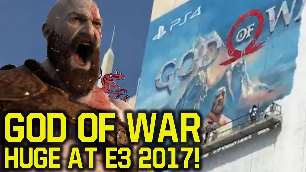 God Of War E3 2017 HUGE POSTER SHOWN