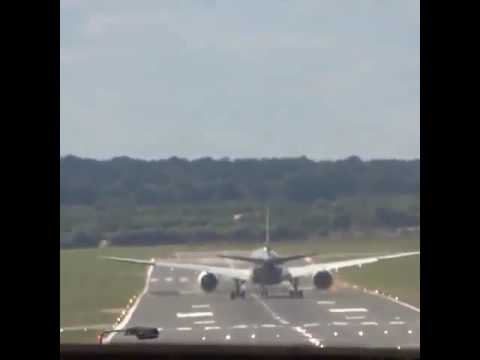 Vertical climb takeoff of A-350