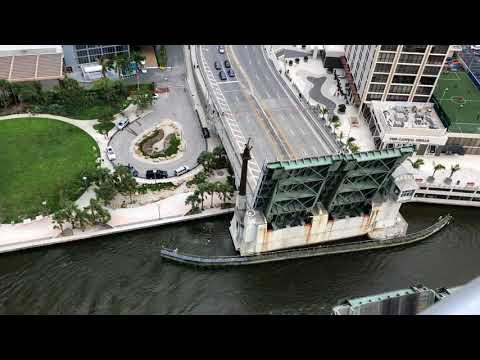 Draw bridge over the Miami River