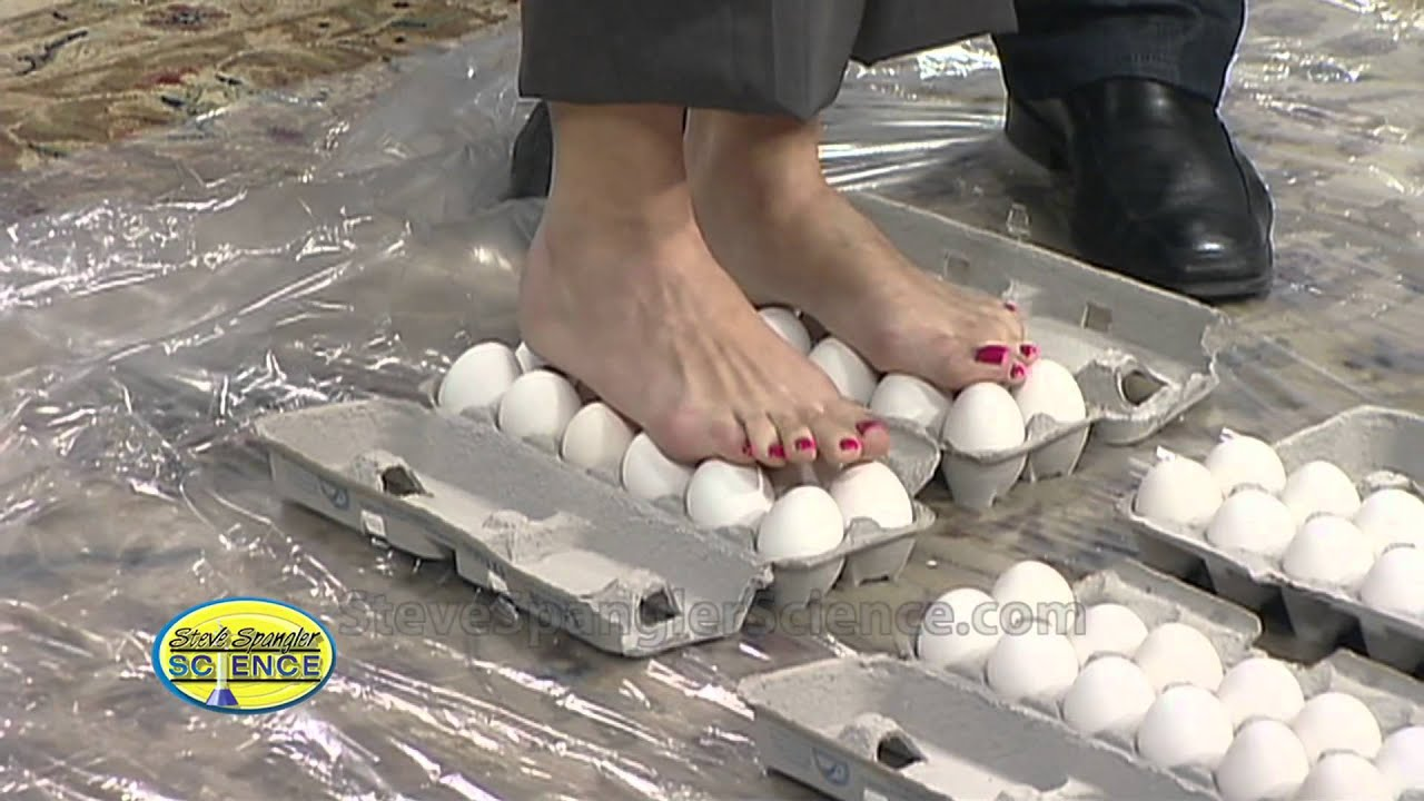 Walking on Eggs - Cool Science Experiment - YouTube