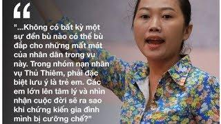 Nguyễn Thùy Dương, người ném giày vào mặt ĐBQH Quyết tâm, phát biểu