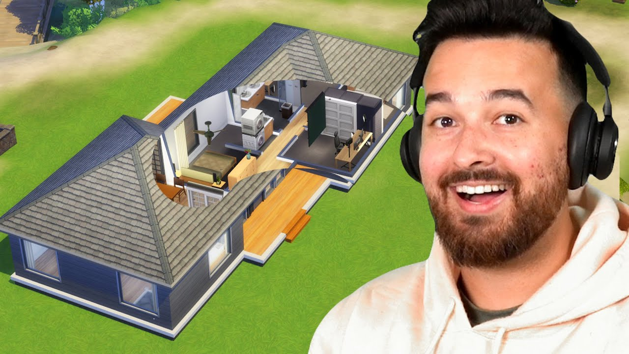 I built our real house in The Sims 4