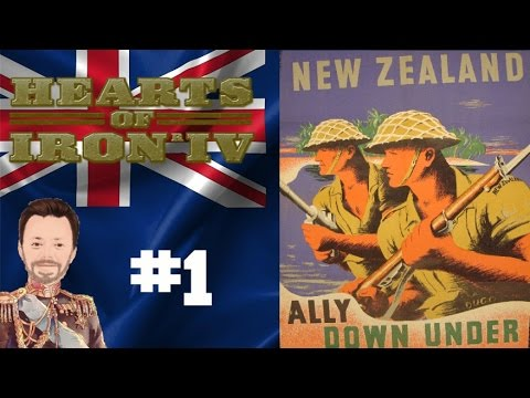 Hearts of Iron 4 - New Zealand - Together for Victory - Episode 1