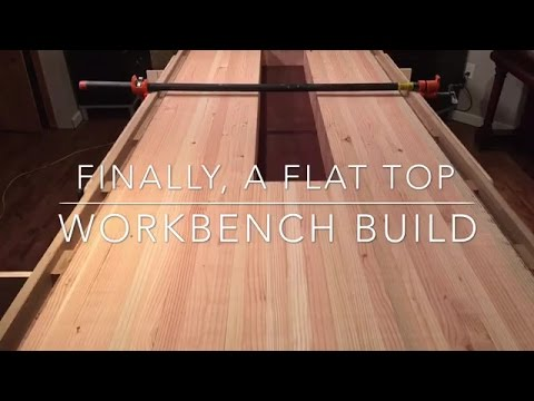 22 Workbench Build Flattening The Top With Router Jig