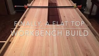 (22) Workbench Build: Flattening The Top With Router Jig
