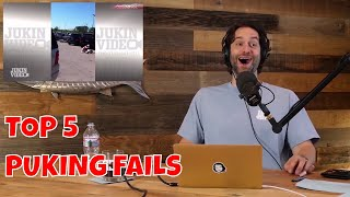 Chris D'Elia Reacts to Top 5 Puking Fails