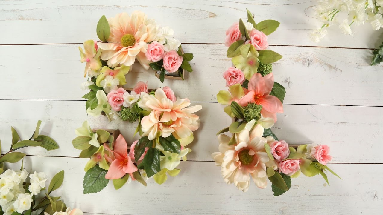 Diy Faux Flower Letters Southern Living