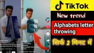 Tiktok me alphabets letter throw krne wali video kaise banaye   technicalmahatma