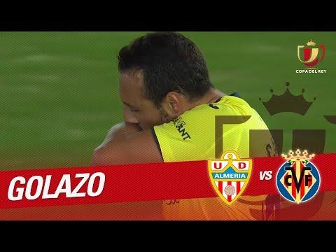Golazo De Santi Cazorla (1-1) UD Almería Vs Villarreal CF