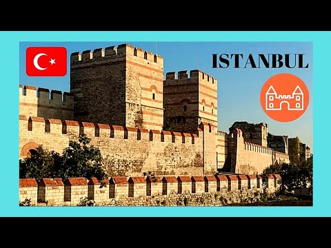 ISTANBUL, walking on the historic medieval WALLS of CONSTANTINOPLE, TURKEY