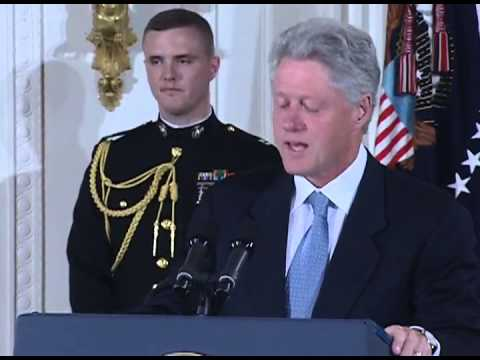 President Clinton at the Presidential Medal of Freedom Ceremony (2000)