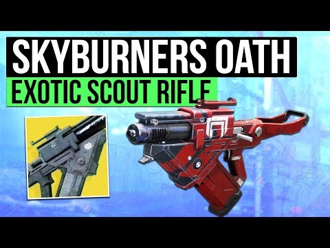 DESTINY 2 | SKYBURNERS OATH! - Cabal Exotic Scout Slug Rifle Overview!